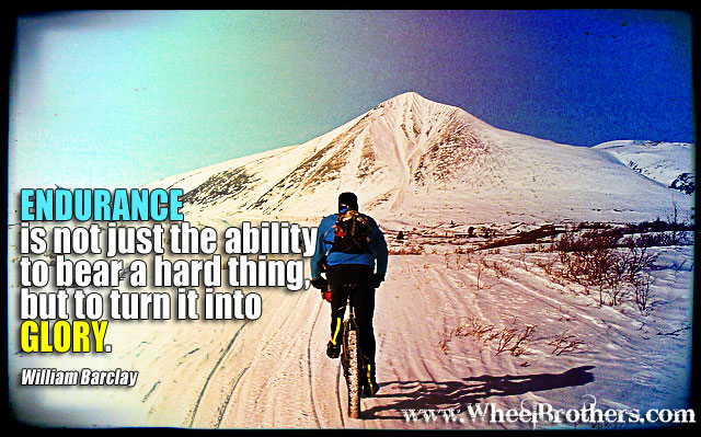 Endurance is the ability to bear a hard thing but to turn it into Glory