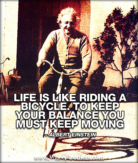 Albert Einstein Quotes Life Is Like Riding A Bicycle: Life Is Like Riding A Bicycle. To Keep Your Balance You