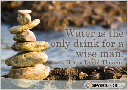 Wat is only drink for a wise men. -Henry David Thoreau