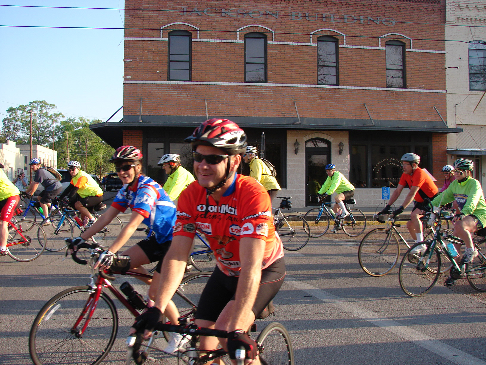Dam to Dam riders from years past roll out in downtown Jasper.