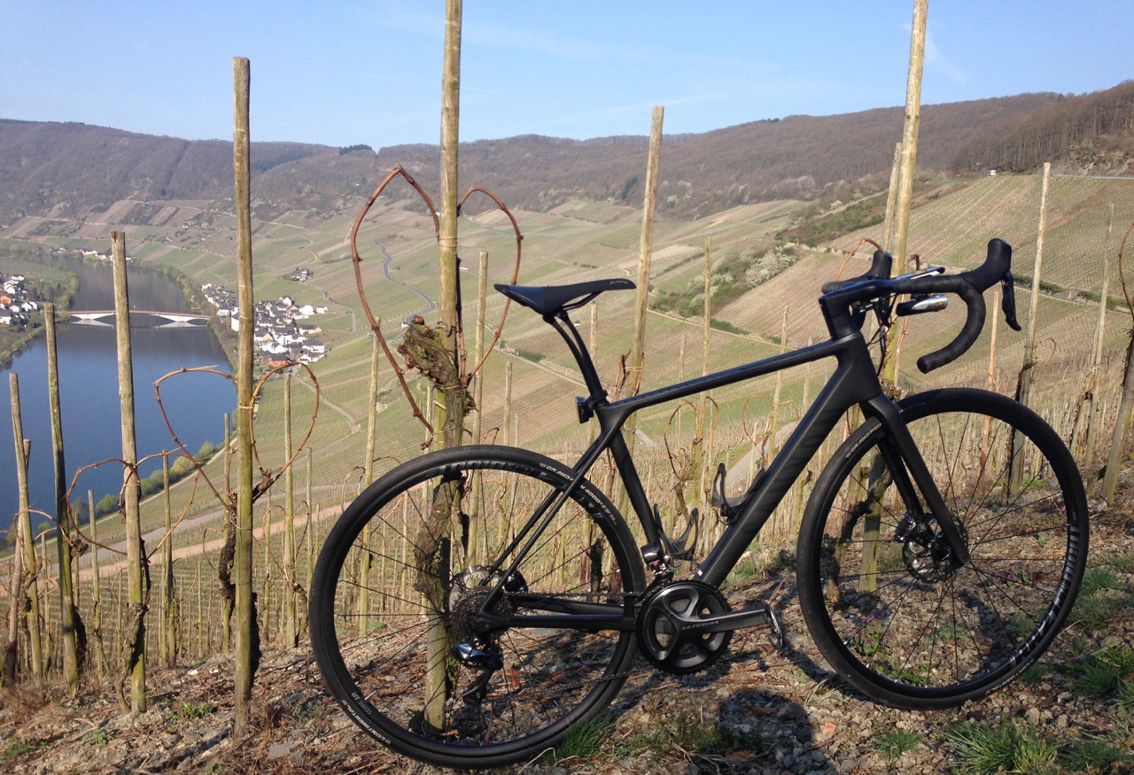 Terceira Picture of bike leaning against fence overlooking bay