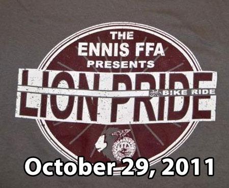 Lion Pride - Ennis, Texas bicycle ride report