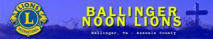 Ballinger Noon Lions