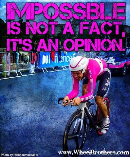 Impossible is not a fact it's an opinion