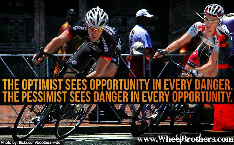 The Optimist Sees Opportunity in Every Danger