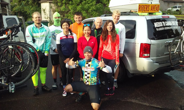 Prepared for final day on bikes in Two Harbors, MN