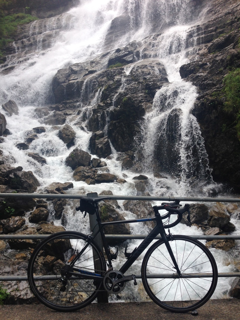 Picture of waterfall and bike